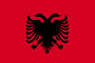 アルバニア共和国の国旗