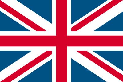 英国(グレートブリテン及び北アイルランド連合王国)の国旗